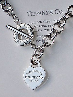 Tiffany & Co Return to Tiffany Sterling Silver Heart Toggle Necklace