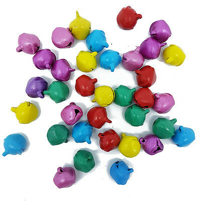 Mixed Multicoloured Jingle Bells Charms 15 x 15mm Christmas Charms Craft Pendant