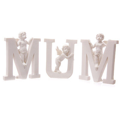 Mum Letters With Cherubs - Gift - Home Decor - Ornament - Figurine - Angel