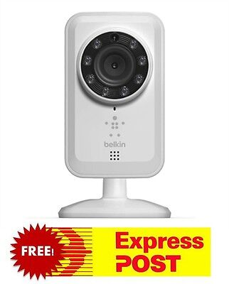 Belkin NetCam Wireless Networking IP Night Vision SD Camera Home Automation