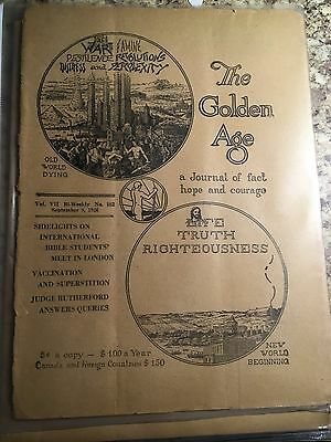Watchtower Awake Consolation Golden Age Magazines - look great between bookends