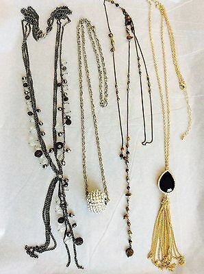 Job Lot Costume Jewellery Mix 4 Long Necklaces 199c