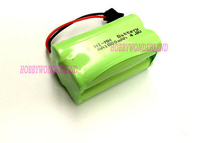 4.8V 4-Cell Ni-MH 1800mAh AA 2*2 Battery Pack w/. SM plug for Double E RC Bus