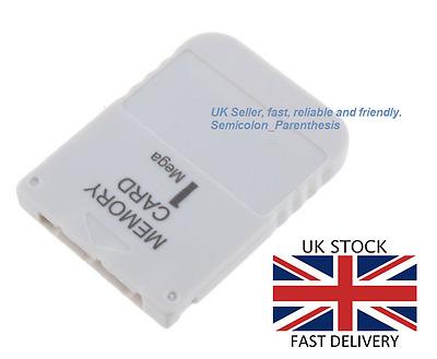 Memory Card (1 MB) for PlayStation 1 PS1 PSX PSOne - BRAND NEW, UK STOCK