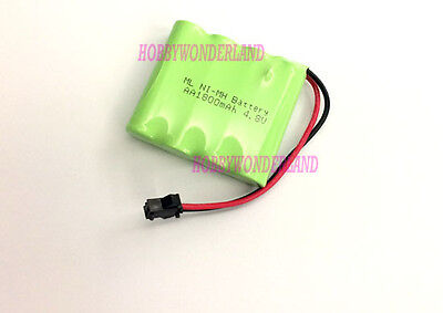 4.8V 4-Cell Ni-MH 1800mAh Battery Pack w/.SM Plug for RC Boat Car HB P1802 Truck