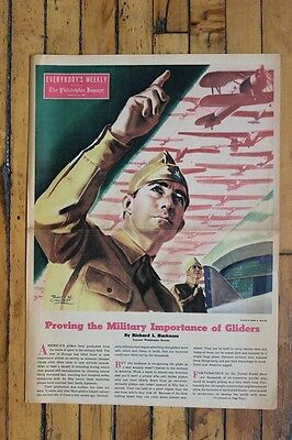 WWII Robert Crowther Illustration Philadelphia Inquirer Military Newspaper Plane