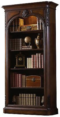 Classic Carved Ash/Cherry Wood Office Olivier Bookcase,88''H