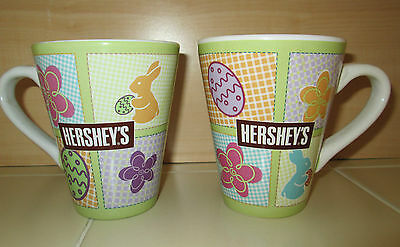 2 Hershey's Candy Collectible Ceramic Easter Chocolate Bunny Coffee Mugs