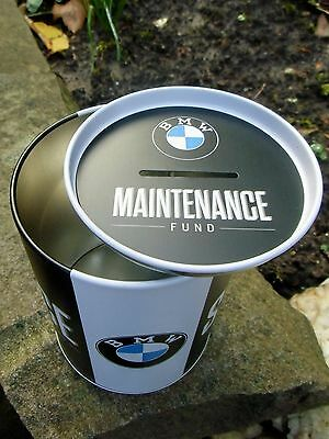 German BMW Service - TIN PIGGY BANK / MONEY BOX - made in Germany