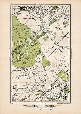 1923 London Street Map - Hanwell,osterley,spring Grove,isleworth