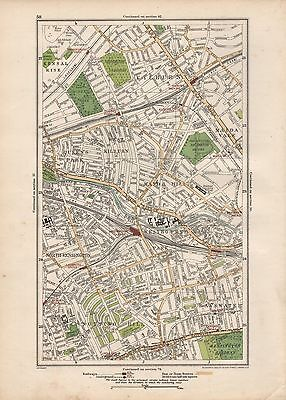 1923 London Street Map - Kilburn, Maida Vale,notting Hill, Kensington,bayswater