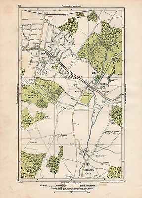 1923 London Street Map - Sidcup, Foots Cray, St Paul's Cray,