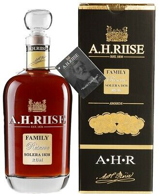 112,84€/l A.H. Riise Family Reserve Solera 1838 Limited Edition Rum 42% 0,7 l