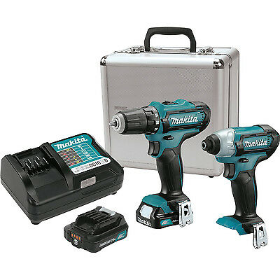 Makita CT226RX 12-Volt MAX CXT Lithium-Ion Cordless 2-Piece Combo Kit with Case
