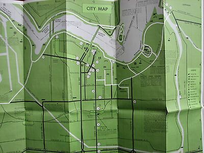 NIAGARA FALLS  &  Area Tour Map  (Probably from 1970s)