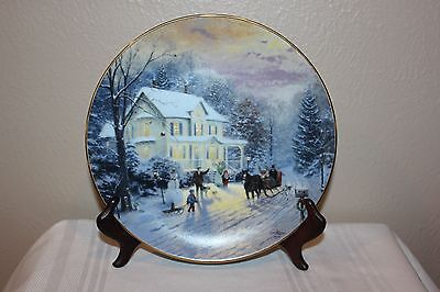 "Home For The Holidays ""Sleighride Home"" Thomas Kinkade Collector Plate, 2749 D"