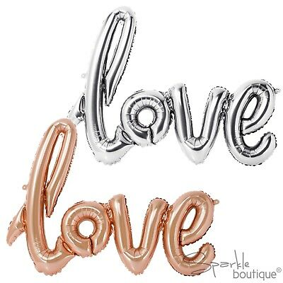 'LOVE' BALLOON BUNTING -Wedding/Engagement/Hen Party Decoration-NO HELIUM NEEDED