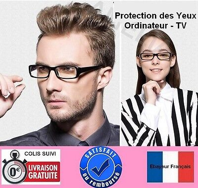 Lunettes anti fatigue-protection radiations-écran d'ordinateur, TV + etui - H&F