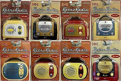 Retro Mini Radio FM 60's Style Miniature Home Outdoor Camping Fishing Festivals