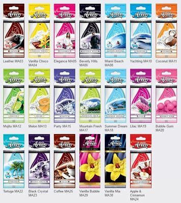 20 x Mon Areon Car Air Fresheners Quality Perfume Home Van Office Taxi Scent Mix