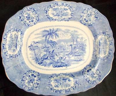 Ridgway ORIENTAL (BLUE with GOLD TRIM) Platter GREAT CONDITION