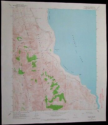 Pyramid SW Nevada Pyramid Lake Indian Reservation vintage 1966 USGS Topo chart
