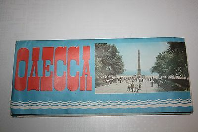 Vintage Russian tourist map of Odessa Moscow 1980 USSR