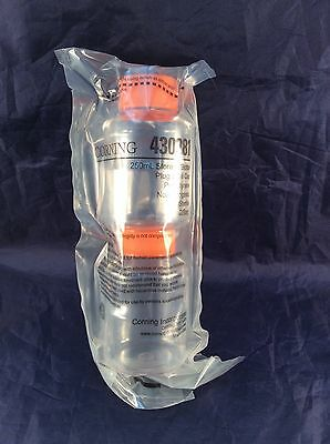 Corning 250 ml Sterile Storage Filter System Bottles Plug Cap 2 per Bag