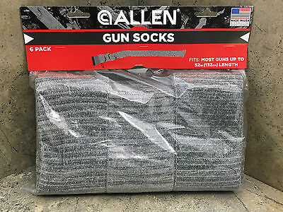 "New Allen Knit Gun Sock 13160  6 Pack 52"" Long"