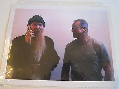 "4 Billy Gibbons Zz Top Photo Graphs 8"" X 10"" & Autograph - 3"" X 5"" - Tub Bn-14"