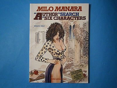 """"""" Author in Search of Six Characters """" by Milo Manara. Catalan, 1989. Unread"""