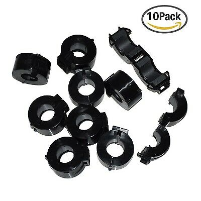 stardrift 10-Pack 15mm Inner Diameter Ferrite Core Cord Ring RFI EMI Noise Fi...