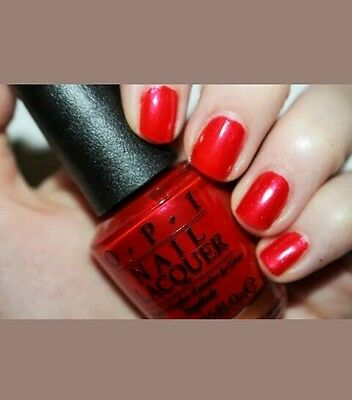 OPI Nail Polish Lacquer GIMME A LIDO KISS Red Shimmer Venice Collection