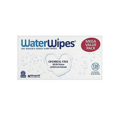 WaterWipes Chemical Free Baby Wipes, Natural & Sensitive, 12 x 60 (720 Wipes)
