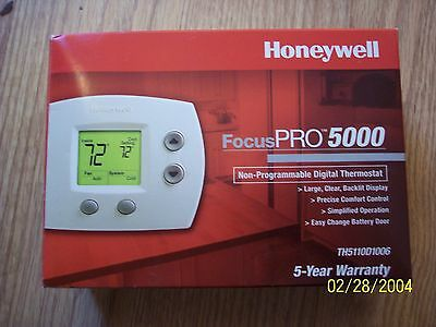 Honeywell Focus PRO 5000 Non-Programmable Digital Thermostat TH5110D1006 NEW
