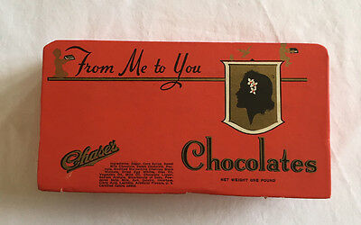 "1930s Chase's Chocolates ""From Me to You"" chocolate box Chase Candy Co Cardboard"