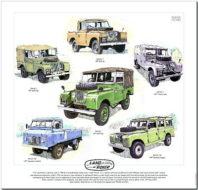Land Rover Series 1 & Land Rover Series 2---Car Art Print