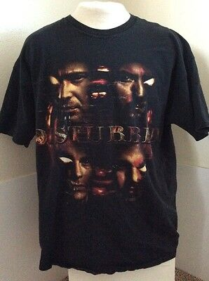Disturbed Rock Band T Shirt  2XL Double Extra Large * 2008 Tour Tee
