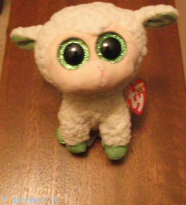 Lala The White/cream Colored Lamb Ty Beanie Boos Easter Collectible Nwt 2015