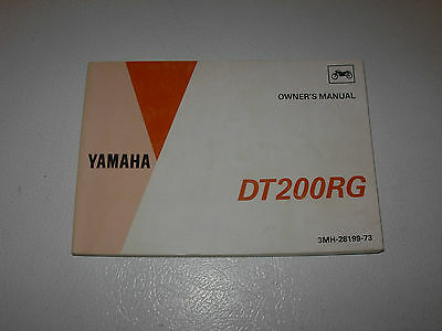 Yamaha DT200RG Motorcycle Owner's Manual , issued 1994