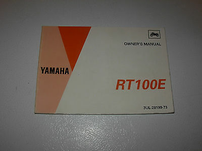 Yamaha RT100E Motorcycle Owner's Manual , issued 1992