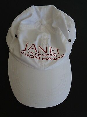 JANET IN CONCERT From Hawaii HBO Janet Jackson PROMO Hat Cap Concert FREE SHIP