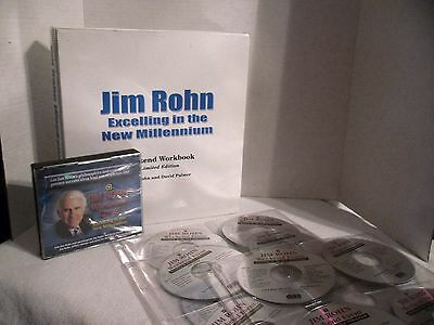 Jim Rohn Excelling in the New Millenium Limited Edition Weekend Workbook CD DVD