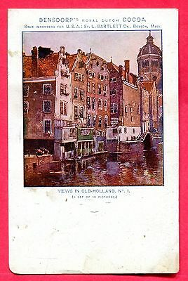 Boston Massachussetts - Bensdorp's Cocoa Advertising Private Mailing Card