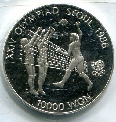 South Korea 1987 10,000 Won, 1988 Seoul Olympic Games, KM#63, Proof