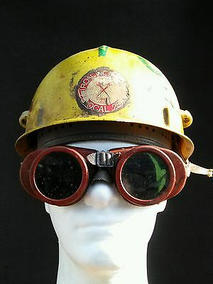 VTG Yellow Jackson SC-20 Fiberglass Safety Hard Hat Welding Goggles Ironworkers