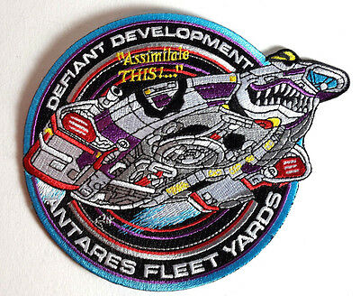 """Star Trek Defiant Development 5.5"""" DELUXE Embroidered Patch-FREE S&H(STPAT-FC02)"""