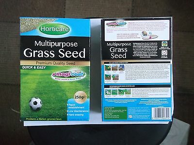 2 x Horticare Multipurpose Grass Seed  - Premium Quality Seed - Quick & Easy