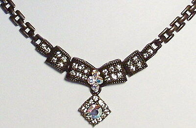 Ice Clear Vintage Victorian Style Necklace Earrings Set Antique Fashion New Gift