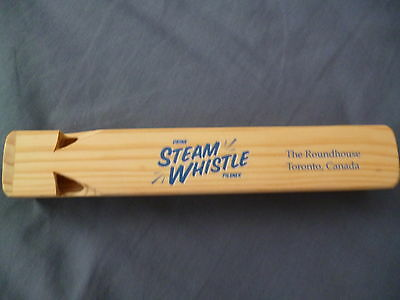 Steam Whistle Brewery Vintage Wooden Railroad Whistle Mint never used